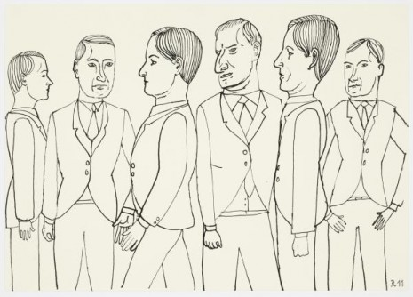 Christoph Ruckhäberle, Untitled (Six men), 2011, Galleri Nicolai Wallner