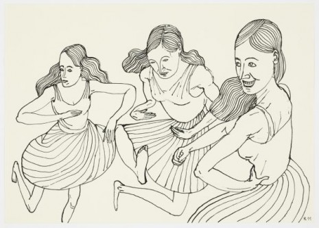 Christoph Ruckhäberle, Untitled (Three dancing women), 2011, Galleri Nicolai Wallner
