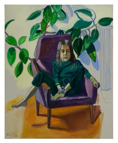 Alice Neel, Olivia with the Rubber Plant, 1977, Xavier Hufkens