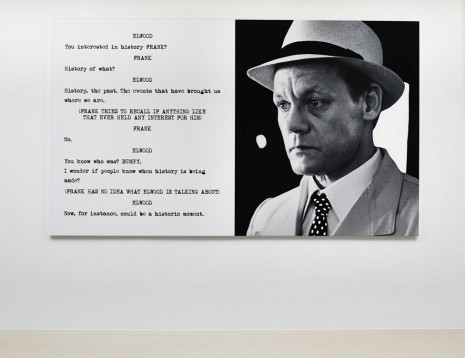 John Baldessari, Pictures & Scripts: You interested in history Frank?, 2015, Marian Goodman Gallery
