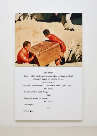 John Baldessari, Pictures & Scripts: Honey -­ what words come to mind?, 2015, Marian Goodman Gallery