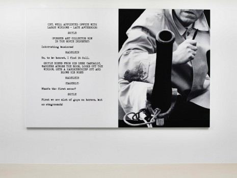John Baldessari, Pictures & Scripts: No stagecoach!, 2015, Marian Goodman Gallery