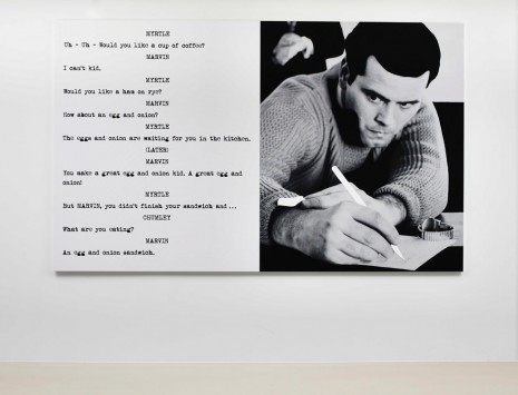 John Baldessari, Pictures & Scripts: Uh -­ Uh -­ Would you like., 2015, Marian Goodman Gallery