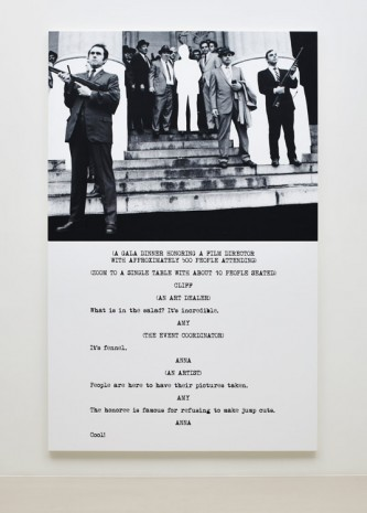 John Baldessari, Pictures & Scripts: What is in the salad?, 2015, Marian Goodman Gallery