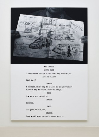 John Baldessari, Pictures & Scripts: What is it? A Courbet., 2015, Marian Goodman Gallery