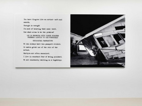 John Baldessari, Pictures & Scripts: You have fingers like an artist., 2015, Marian Goodman Gallery