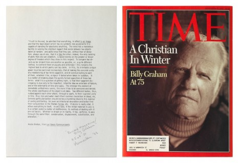 Robert Heinecken, Revised Magazine/Billy Graham, 1993, Capitain Petzel