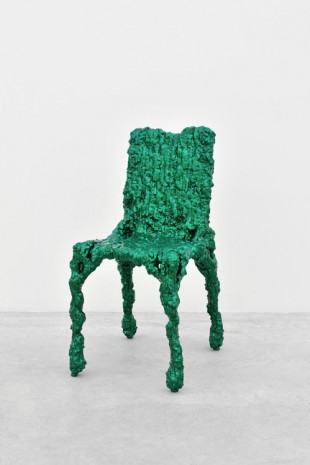 Christopher Schanck, Alufoil Chair (Green), 2014, Almine Rech