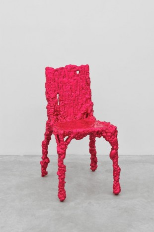 Christopher Schanck, Alufoil Chair (Fuschia), 2014, Almine Rech