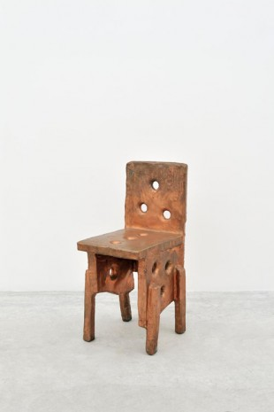 Max Lamb, Copper chair, 2010, Almine Rech