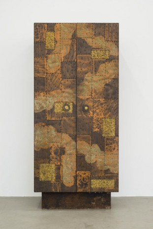 Paul Evans, Copper and Brass sheets vertical cabinet, 1970, Almine Rech