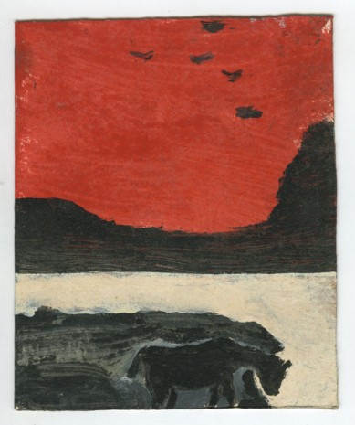 Frank Walter, Landscape Series, Antigua: Horse with Hurricane Sky and Cliffs, , Ingleby Gallery