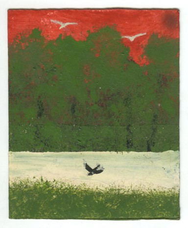 Frank Walter, Landscape Series: Green Bushes and River with Single Bird, , Ingleby Gallery