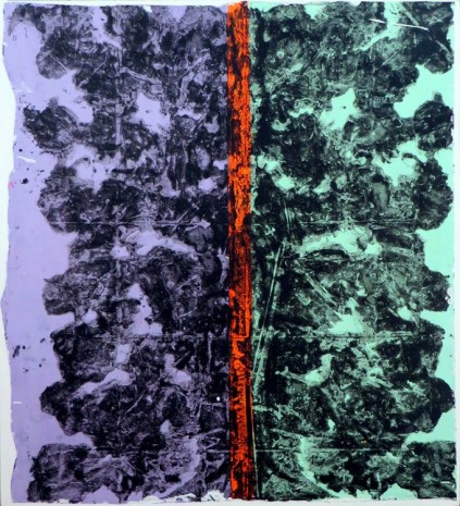 Christina Zurfluh, DIVIDED violet/ neon orange/ green, 2012, Galerie Mezzanin