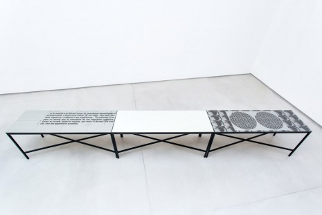 Nick Oberthaler, table, 2015, Galerie Thaddaeus Ropac