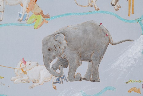 NS Harsha, Mooing here and now (detail), 2014, Victoria Miro Gallery