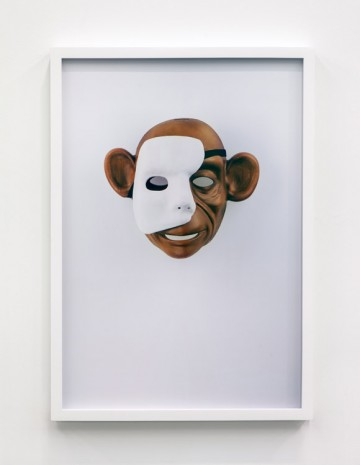 Jamie Isenstein, Masks Wearing Masks (Monkey Phantom), 2015, Andrew Kreps Gallery