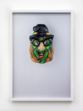 Jamie Isenstein, Masks Wearing Masks (Green Witch Groucho), 2015, Andrew Kreps Gallery
