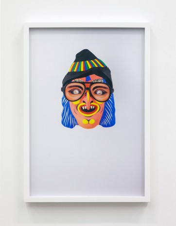 Jamie Isenstein, Masks Wearing Masks (Pink Witch Aviator), 2015, Andrew Kreps Gallery