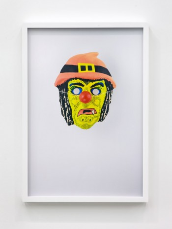 Jamie Isenstein, Masks Wearing Masks (Yellow Witch Clown), 2015, Andrew Kreps Gallery
