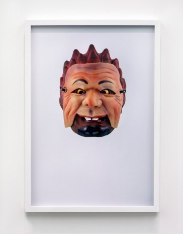 Jamie Isenstein, Masks Wearing Masks (Japanese Noh Old Man), 2015, Andrew Kreps Gallery
