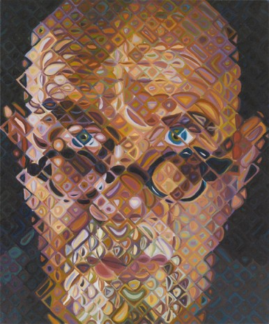 Chuck Close  , Self-Portrait I, 2010, Blum & Poe