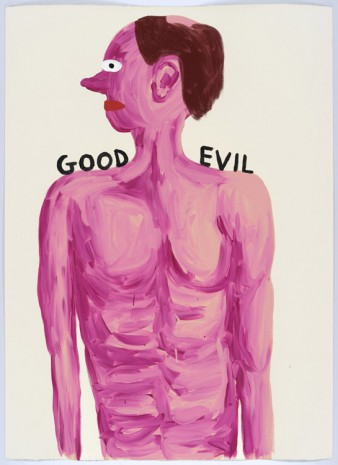 David Shrigley, Untitled (Good, Evil), 2015, Anton Kern Gallery