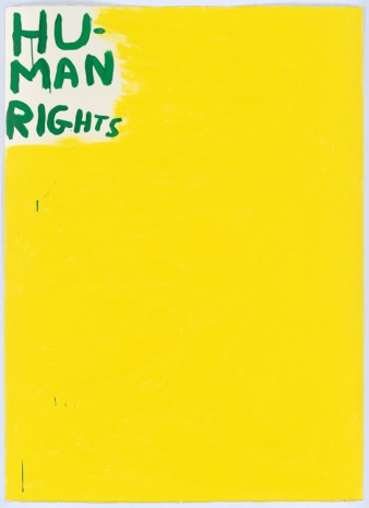 David Shrigley, Untitled (Human Rights), 2015, Anton Kern Gallery