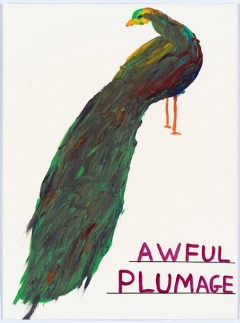 David Shrigley, Untitled (Awful plumage), 2015, Anton Kern Gallery