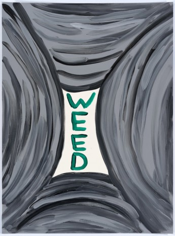 David Shrigley, Untitled (Weed), 2015, Anton Kern Gallery
