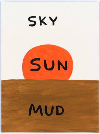 David Shrigley, Untitled (Sky, sun, mud), 2015, Anton Kern Gallery