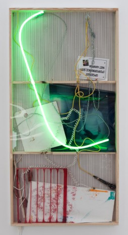 Joris Van de Moortel, Narrations that drip out of these two (or more) elements fighting each other, 2015, Galerie Nathalie Obadia
