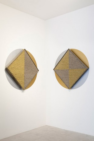 Haegue Yang, Sonic Rotating Geometries Type F – Copper and Nickel Plated #57 (diptych), 2015, dépendance
