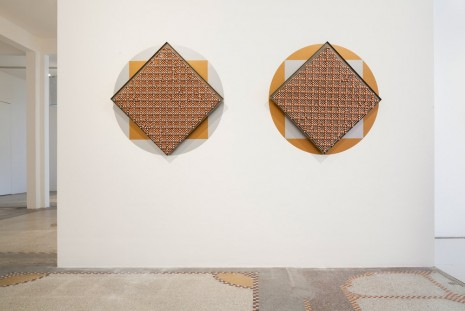 Haegue Yang, Sonic Rotating Geometries Type F – Copper and Nickel Plated #58 (diptych), 2015, dépendance