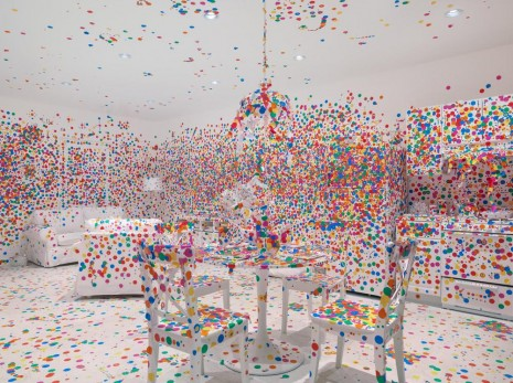 Yayoi Kusama, The obliteration room, 2002-present, David Zwirner