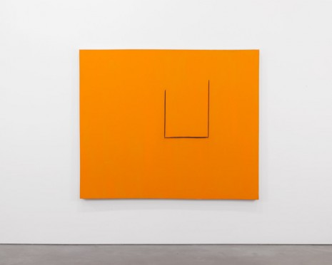 Robert Motherwell, Untitled (In Orange with Charcoal Lines), ca. 1970, Andrea Rosen Gallery