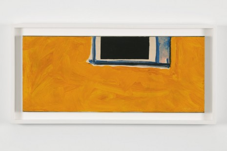 Robert Motherwell, {Untitled (Open in Yellow, Black and Blue)}, 1970, Andrea Rosen Gallery