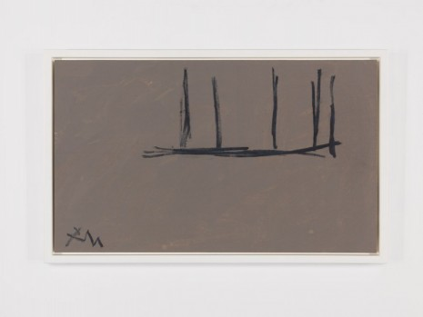 Robert Motherwell, Open Study in Charcoal on Grey No. 1, 1974, Andrea Rosen Gallery