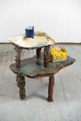 Jessica Jackson Hutchins, Untitled (Table), 2015, Marianne Boesky Gallery
