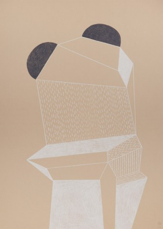 Nathalie Du Pasquier, Untitled, Color pencil on paper, Exile