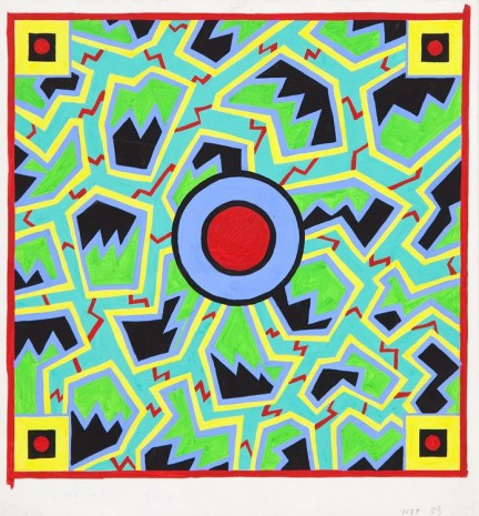 Nathalie Du Pasquier, Project for a scarf, 1983, Exile