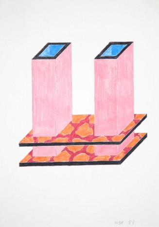 Nathalie Du Pasquier, Project for a vase for two flowers, 1983, Exile