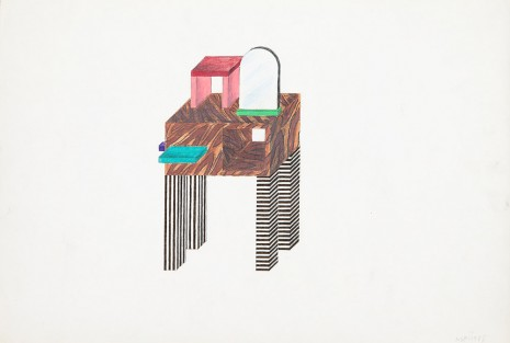 Nathalie Du Pasquier, Entrance piece of furniture for Memphis, 1985, Exile