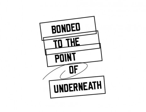 Lawrence Weiner, BONDED TO THE POINT OF UNDERNEATH, 2015, Mai 36 Galerie