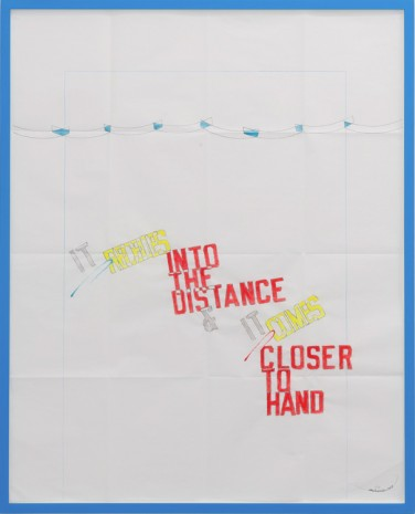 Lawrence Weiner, IT RECEDES, 2014, Mai 36 Galerie