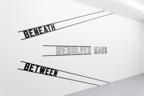 Lawrence Weiner Mai 36 Galerie