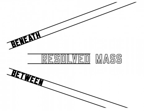 Lawrence Weiner, BENEATH RESOLVED MASS BETWEEN, 2006, Mai 36 Galerie