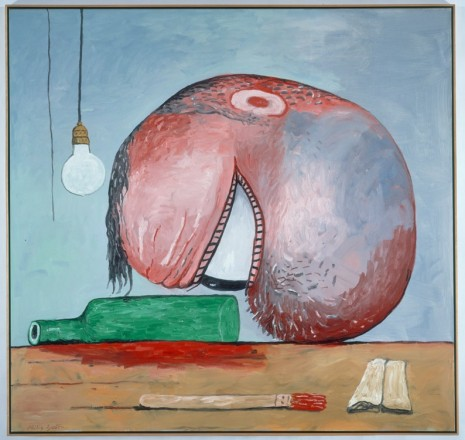Philip Guston, Head and Bottle, 1975, Timothy Taylor