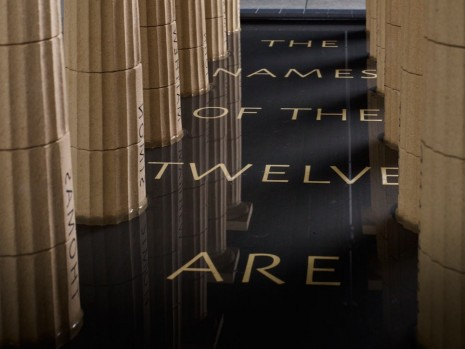 Ian Hamilton Finlay, The Names of the Twelve (detail), 2005-06, Victoria Miro Gallery