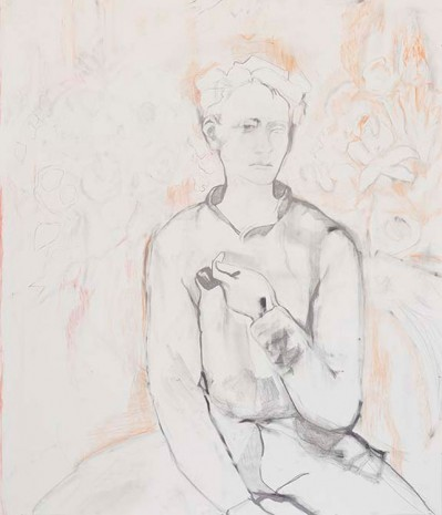 Andrea Fourchy, Young Man with Garland of Roses, 2015, Greene Naftali